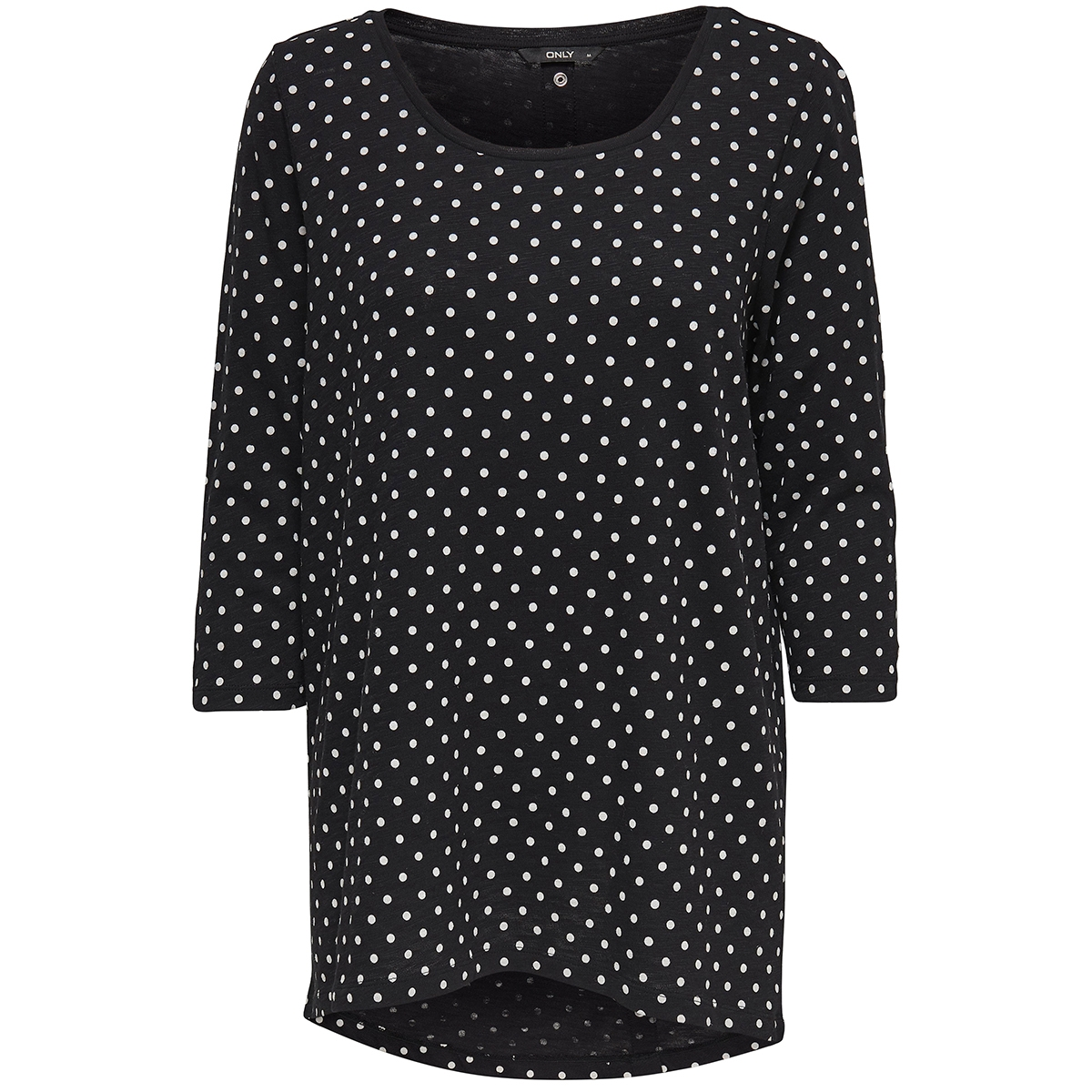 onlcasa 3/4 aop top jrs noos 15157699 only t-shirt black/ dots