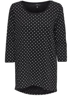 Only T-shirt onlCASA 3/4 AOP TOP JRS NOOS 15157699 Black/ Dots