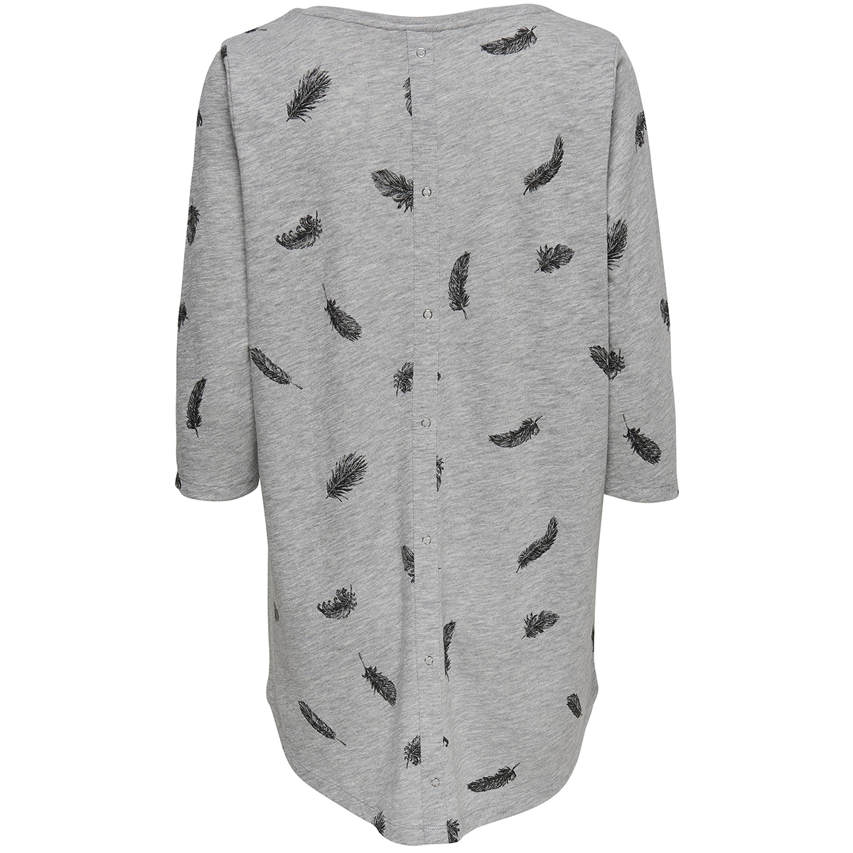 onlcasa 3/4 aop top jrs noos 15157699 only t-shirt light grey melange