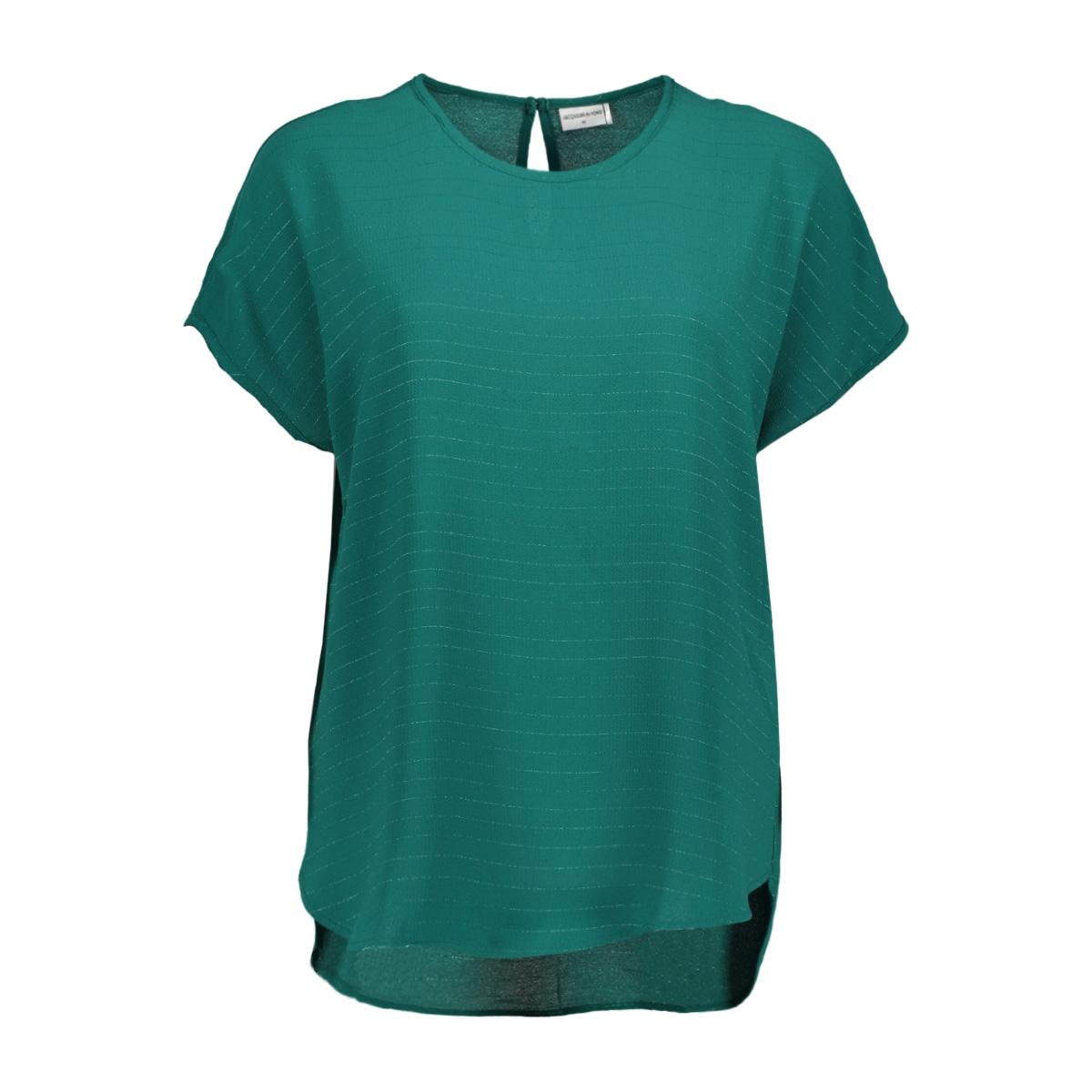 jdyserenity s/s top wvn 15143329 jacqueline de yong t-shirt storm/gunmetall
