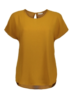 Jacqueline de Yong T-shirt JDYSERENITY S/S TOP WVN 15143329 Golden Brown/GOLD LUREX