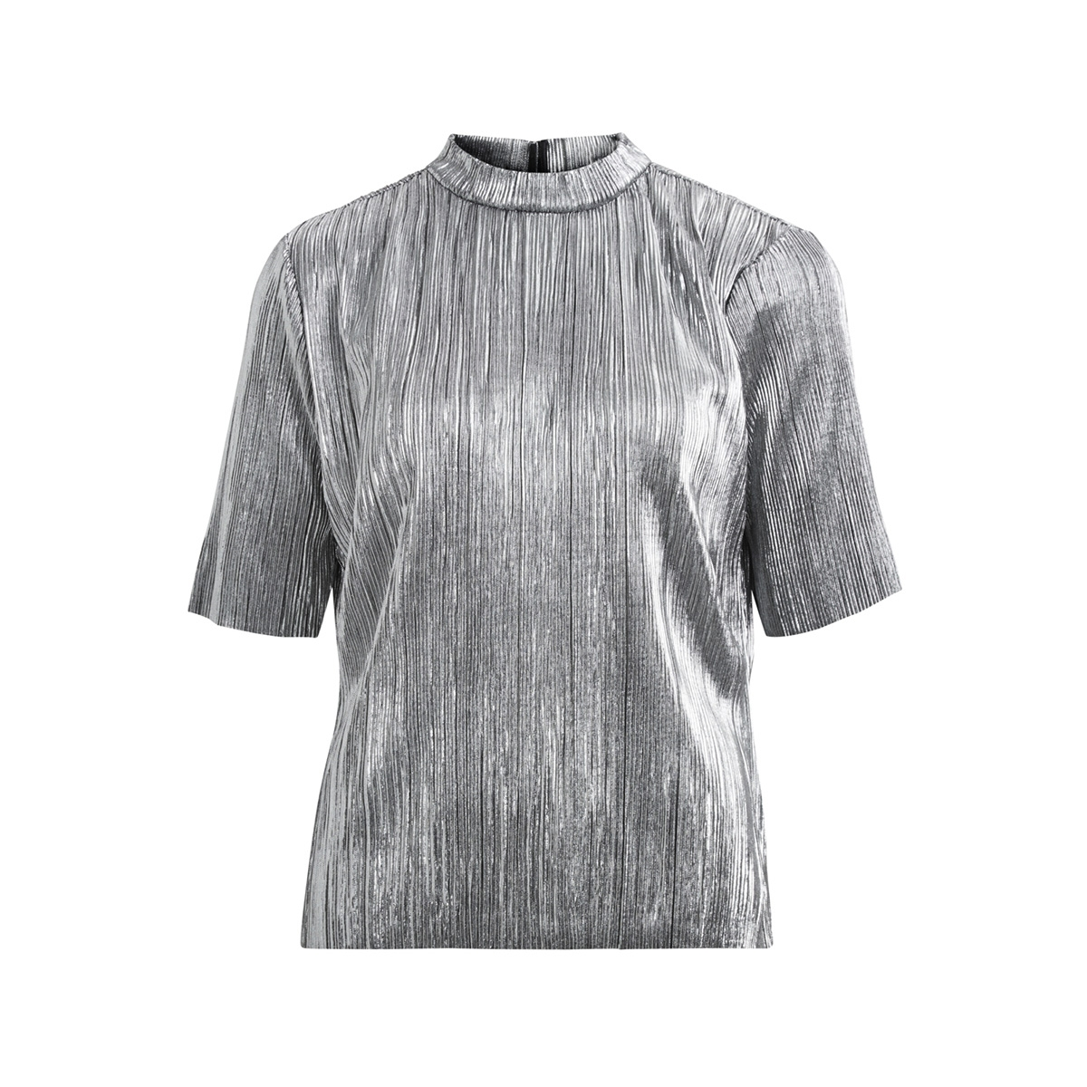 visilvi 2/4 sleeve top 14043904 vila t-shirt silver colour
