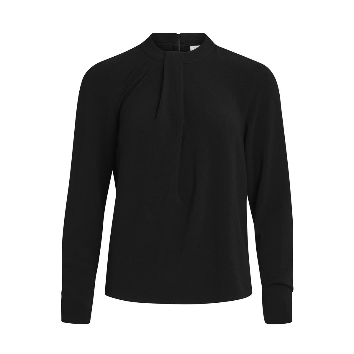 vicallie l/s drape top/gv 14043866 vila blouse black