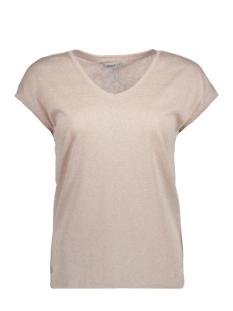 onlsilvery s/s v neck lurex top jrs 15136069 only t-shirt rose smoke