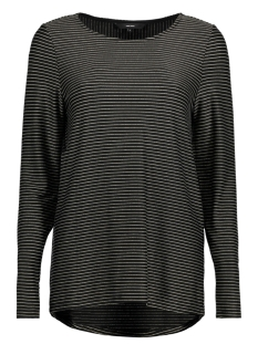 Vero Moda T-shirt VMHALEY L/S TOP JRS 10189408 Black / With Gold