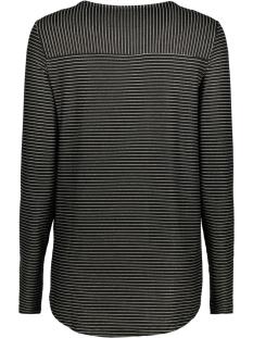 vmhaley l/s top jrs 10189408 vero moda t-shirt black / with gold