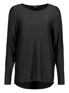 Vero Moda T-shirt VMHALEY L/S TOP JRS 10189408 Black / W / Silver