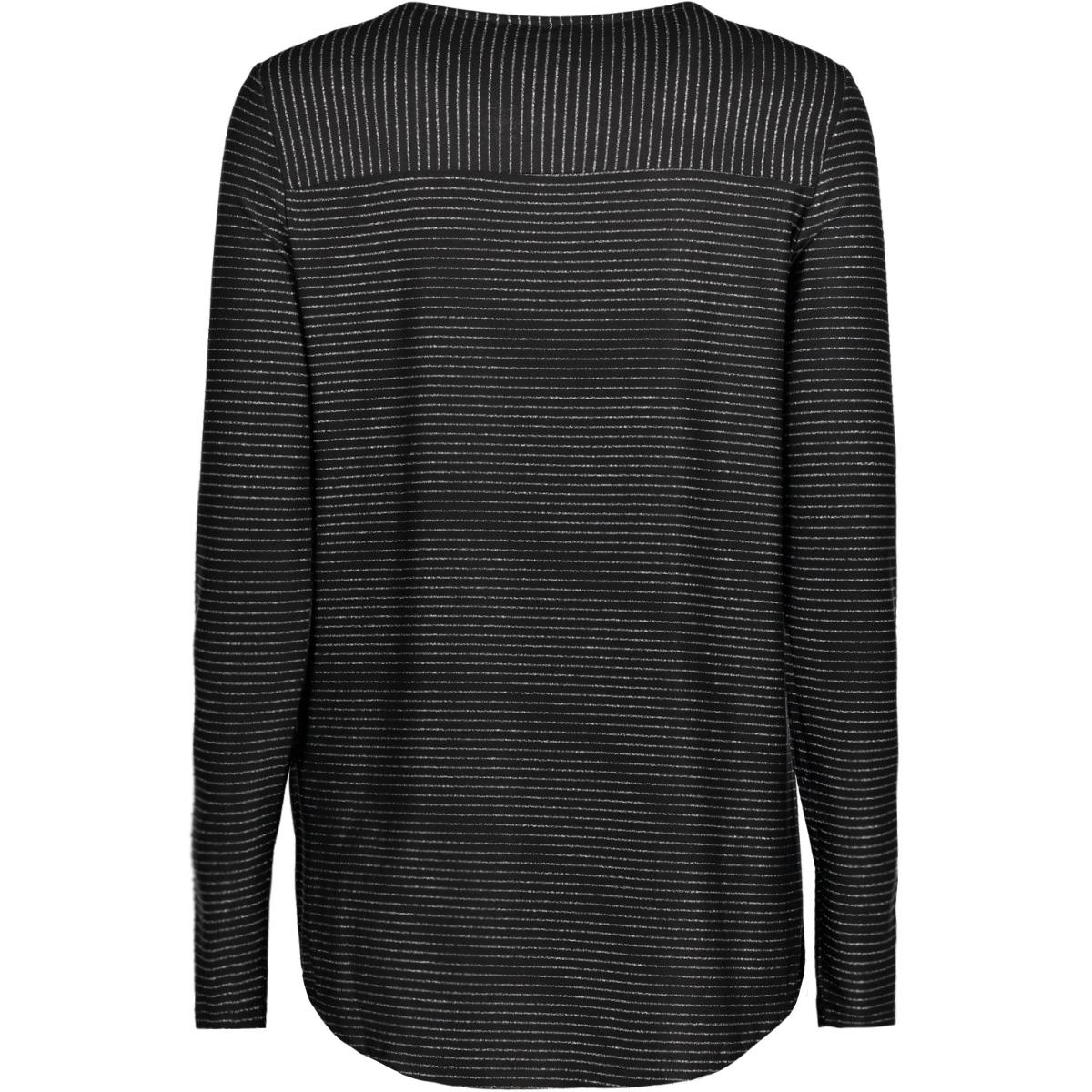 vmhaley l/s top jrs 10189408 vero moda t-shirt black / w / silver