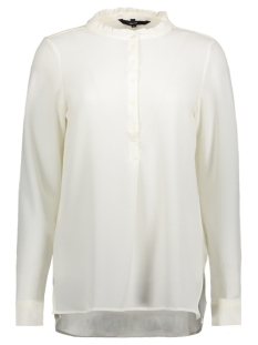 Vero Moda Blouse VMFLORI LS LONG TOP 10190659 Snow white