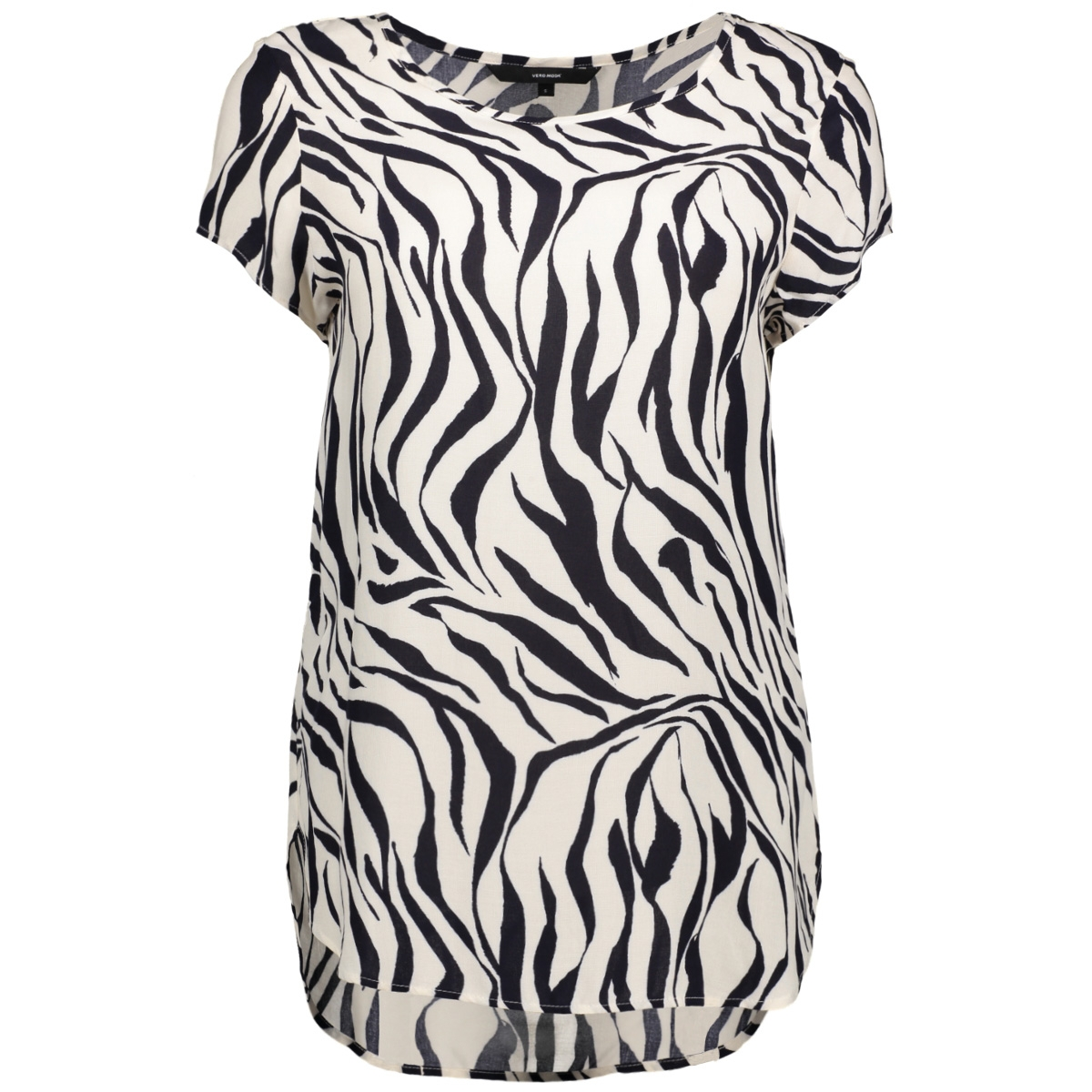 vmboca ss blouse multi printed 10132802 vero moda t-shirt whitecap gray/zanzana