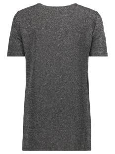 vmsigrid glitter s/s long top jrs 10189243 vero moda t-shirt black / black with