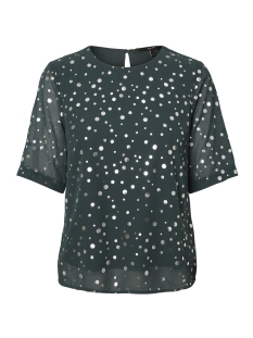 Vero Moda Blouse VMDIVIA DOT SS TOP FD 10198237 Green Gables / Silver Dot
