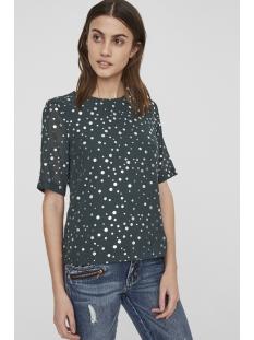 vmdivia dot ss top fd 10198237 vero moda blouse green gables / silver dot