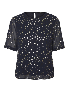 Vero Moda Blouse VMDIVIA DOT SS TOP FD 10198237 Night Sky / Gold Dots
