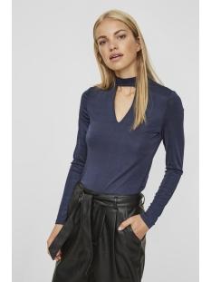 vmjennie ls top 10188274 vero moda t-shirt navy blazer