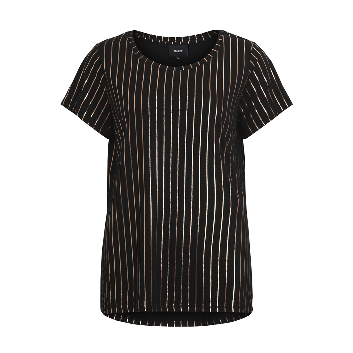objsplash stripe s/s t-shirt a 23026954 object t-shirt black/gold foil