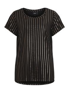 Object T-shirt OBJSPLASH STRIPE S/S T-SHIRT A 23026954 Black/GOLD FOIL