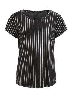Object T-shirt OBJSPLASH STRIPE S/S T-SHIRT A 23026954 Black/SILVER FOI