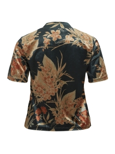 vikaitlin high neck s/s top/rx 14047412 vila t-shirt pine grove/flower pri