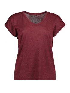 Only T-shirt onlSILVERY S/S V NECK LUREX TOP JRS NOOS 15136069 Port Royale
