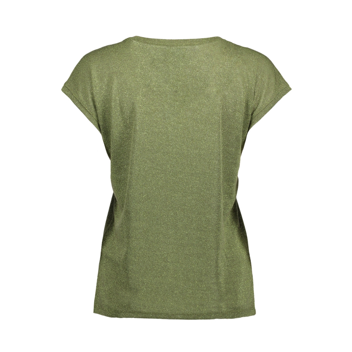 onlsilvery s/s v neck lurex top jrs noos 15136069 only t-shirt agave green