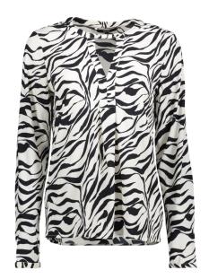 vmzanzana lia ls top 10190360 vero moda blouse whitecap gray/zanzana pr