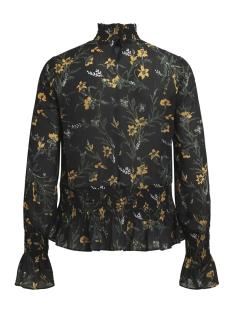 objlani l/s top a wi 23026484 object blouse black/yellow