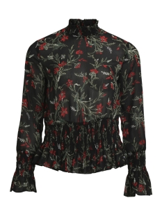 Object Blouse OBJLANI L/S TOP A WI 23026484 Black/Red