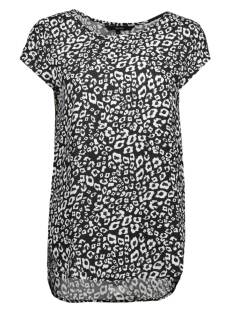 Vero Moda T-shirt VMBOCA SS BLOUSE PRINTED 10128072 Black/Leo print