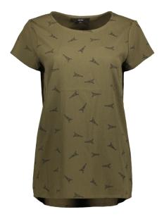 Vero Moda T-shirt VMEVI S/S TOP D2 LCS 10199274 Ivy Green/BLACK EFFI