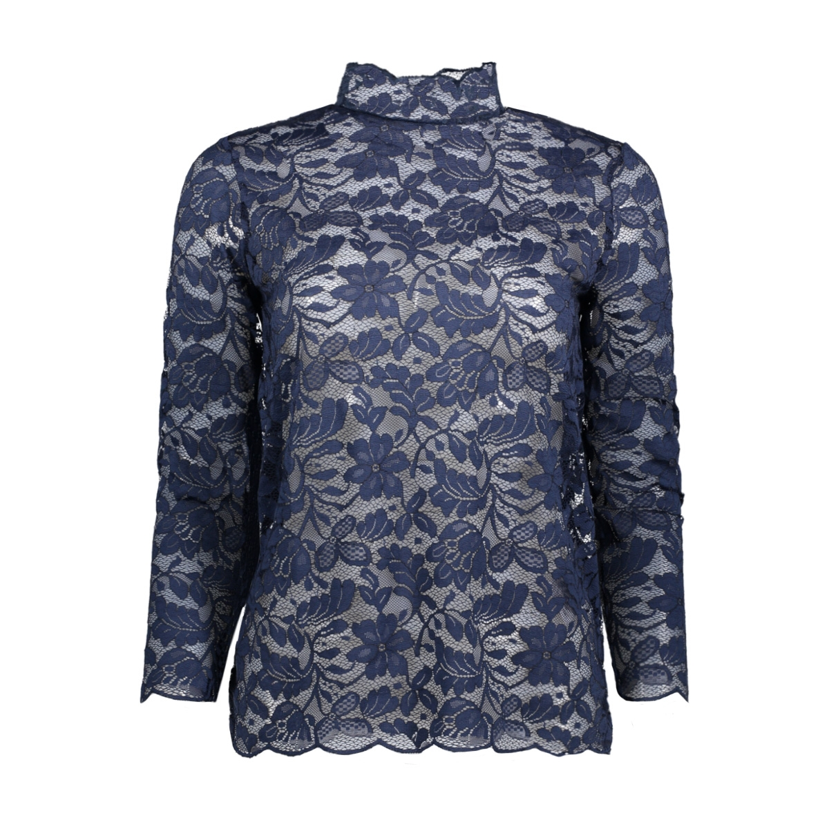 jdygoldie l/s highneck top jrs ka 15141725 jacqueline de yong t-shirt dress blues