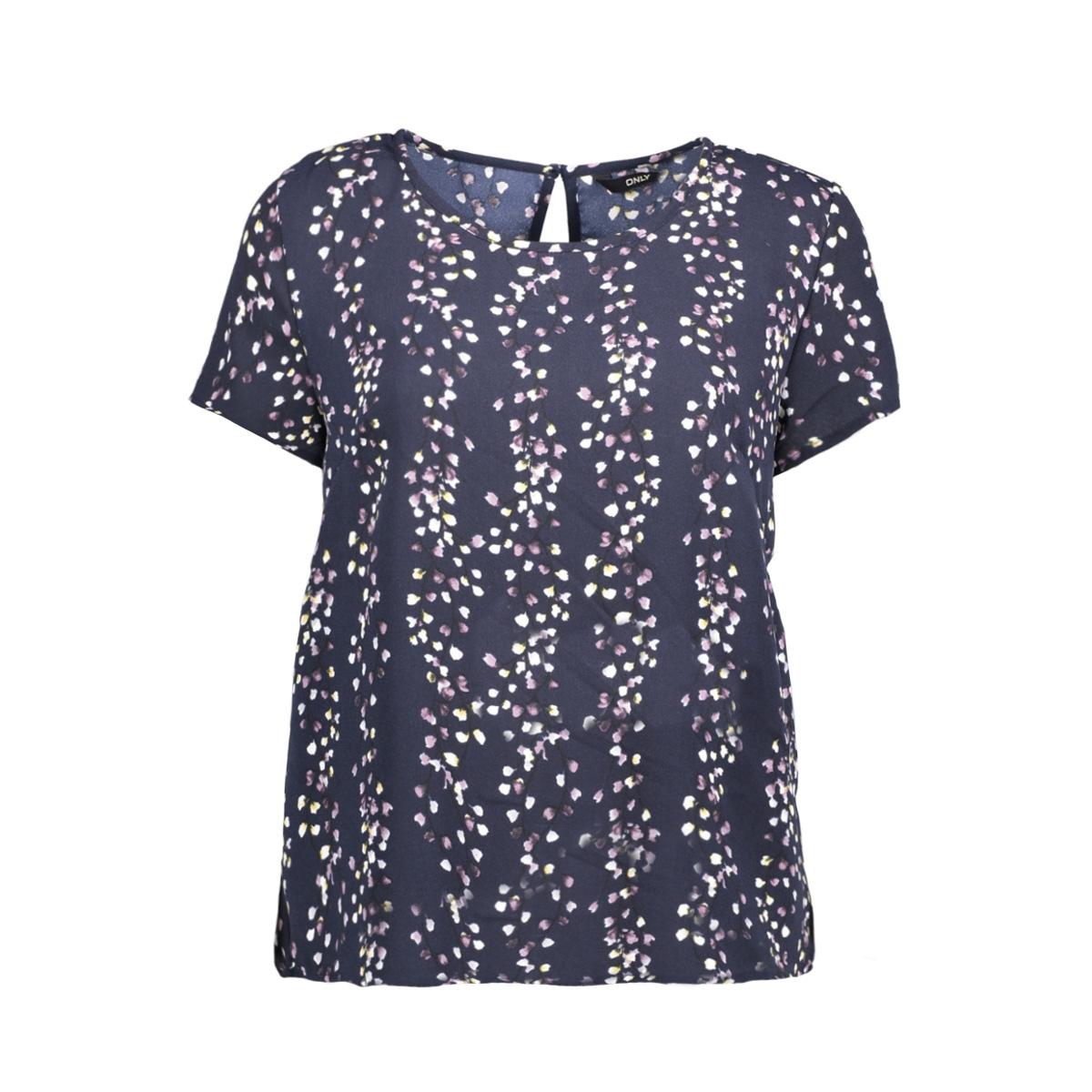 onlditte first s/s top wvn 15153766 only t-shirt night sky/flower pri