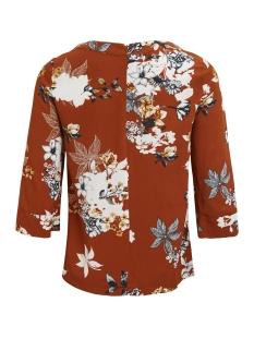 vimemira  3/4 top/rx 14047795 vila t-shirt roasted pecan/flower