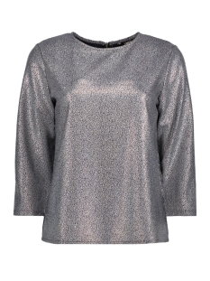 Only T-shirt onlDANA 3/4 BLOUSE WVN 15154224 Night sky/SILVER FOI