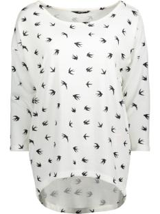 onlelcos 4/5 aop top jrs noos 15144286 only t-shirt cloud dancer/birds