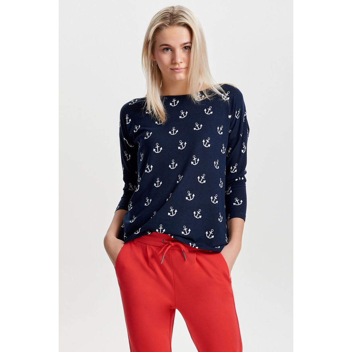 onlelcos 4/5 aop top jrs noos 15144286 only t-shirt night sky/ anker