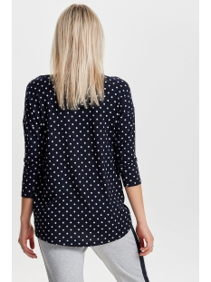 onlelcos 4/5 aop top jrs noos 15144286 only t-shirt night sky/ stip
