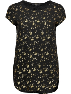 Vero Moda T-shirt VMBOCA SS BLOUSE FOIL AOP PRINT 10178397 Black/FLOWERS