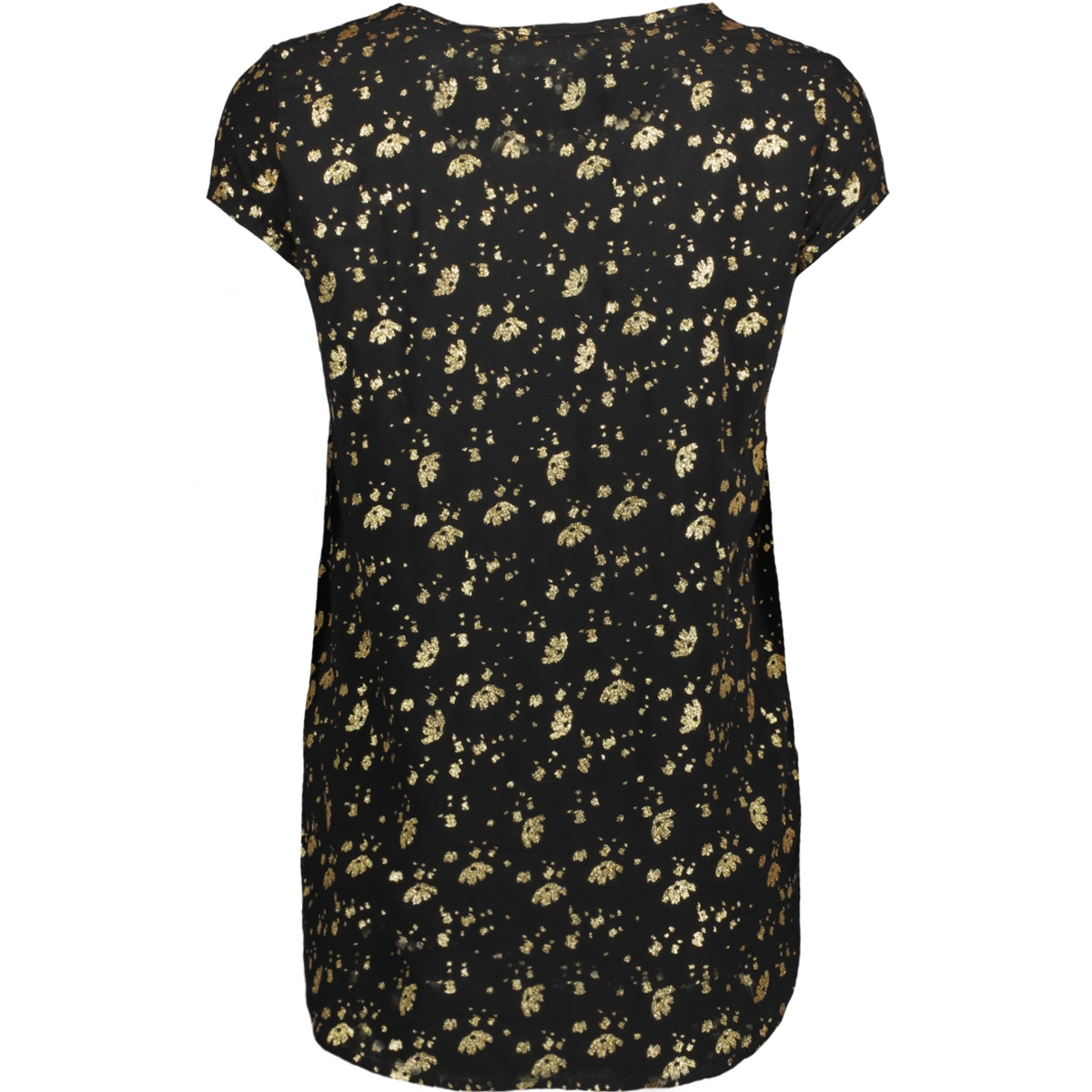 vmboca ss blouse foil aop print 10178397 vero moda t-shirt black/flowers