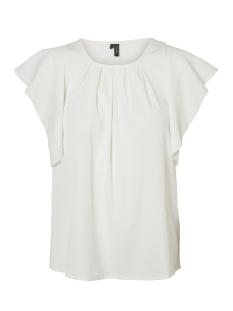 Vero Moda T-shirt VMNEWYORK FRILL S/L TOP SB8 10195068 Snow White