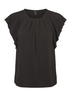 Vero Moda T-shirt VMNEWYORK FRILL S/L TOP SB8 10195068 Black