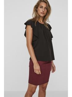 vmnewyork frill s/l top sb8 10195068 vero moda t-shirt black