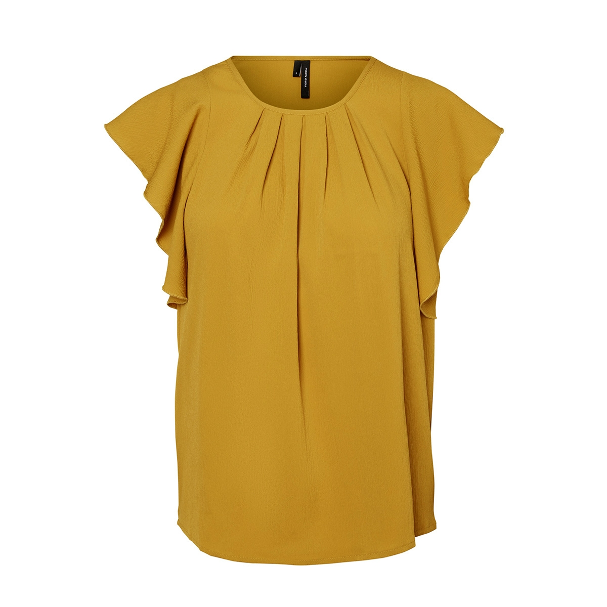 vmnewyork frill s/l top  sb8 10195068 vero moda t-shirt harvest gold