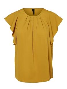Vero Moda T-shirt VMNEWYORK FRILL S/L TOP  SB8 10195068 Harvest Gold