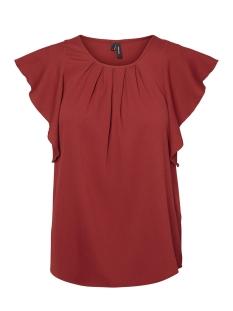 Vero Moda T-shirt VMNEWYORK FRILL S/L TOP SB8 10195068 Sun-Dried Tomato