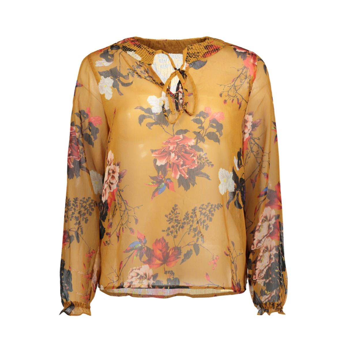 onloda l/s aop top wvn 15146444 only blouse chai tea/cosy botan