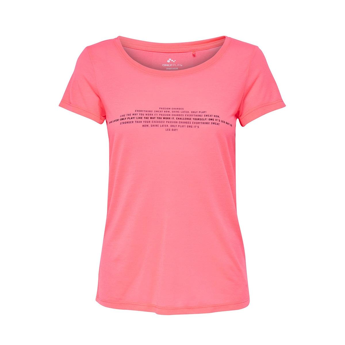 onprosalyn regular ss tee  prs 15139924 only play sport shirt lipstick pink/ tornado