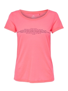 Only Play Sport shirt onpROSALYN REGULAR SS TEE  PRS 15139924 Lipstick Pink/ Tornado