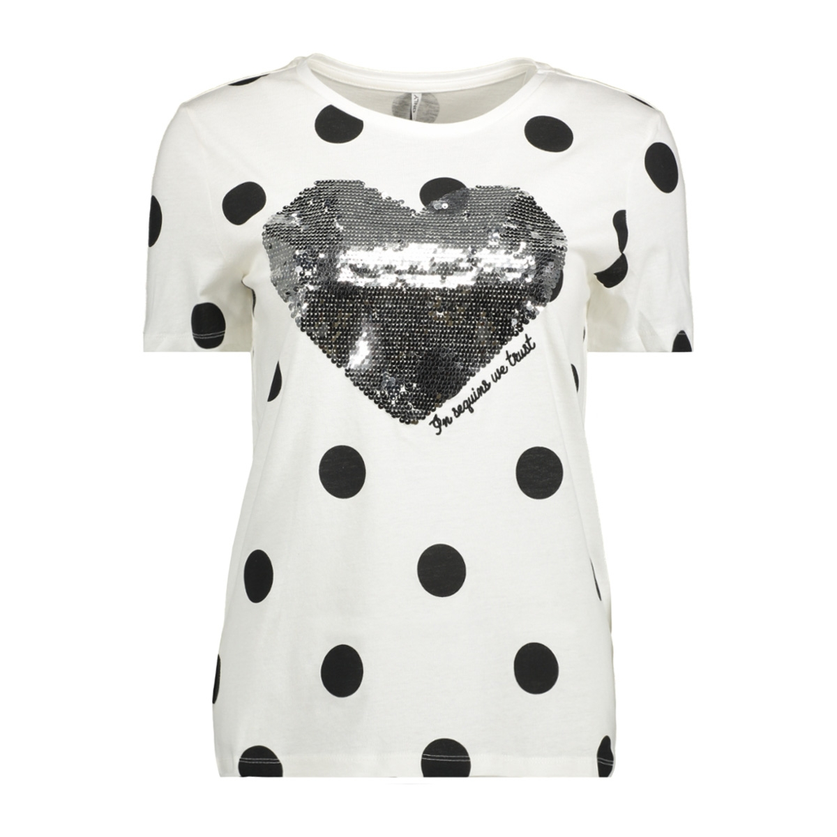 onlkita s/s sweet print top box ess 15150157 only t-shirt cloud dancer/heart(bla