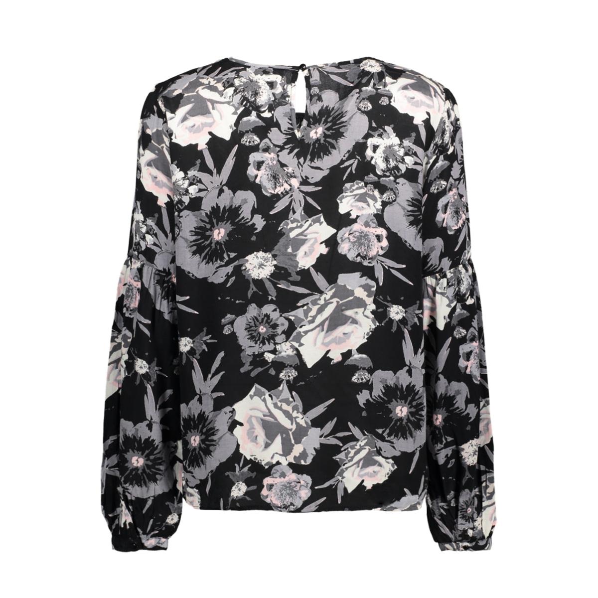viastha l/s top 14044806 vila t-shirt black/black comb
